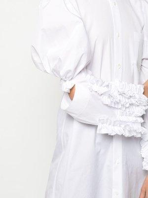 COMME des GARÇONS Puffed-Shoulder Shirt Dress
