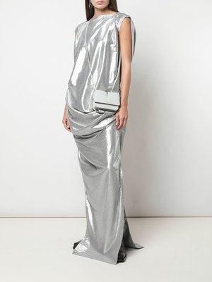 Rick Owens Metallic Effect Draped Nouveau Gown