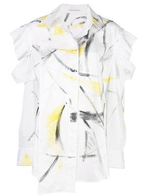 Yohji Yamamoto Paintstroke Print Shirt