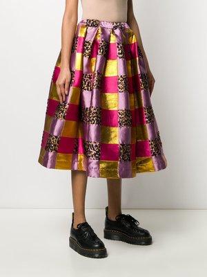 COMME des GARÇONS Flared Jaquard Skirt