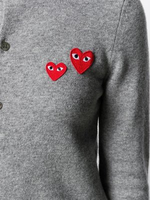 COMME des GARÇONS PLAY Embroidered Hearts Cardigan