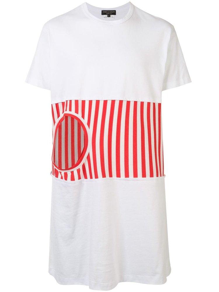 COMME des GARÇONS HOMME PLUS Inset Stripe Long T-shirt