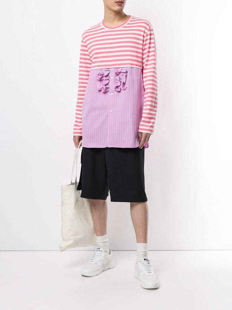 COMME des GARÇONS HOMME PLUS Pink Stripe T-shirt