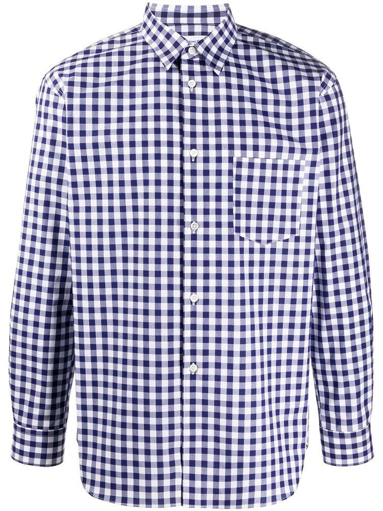 COMME des GARÇONS SHIRT Long-Sleeved Gingham Check Shirt