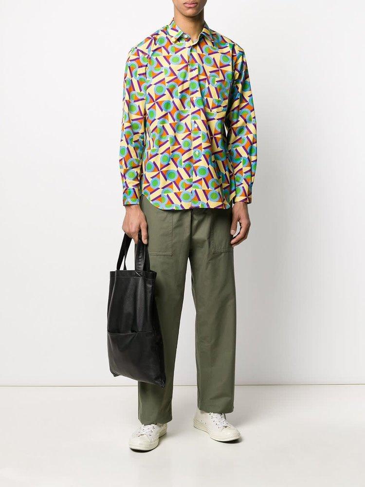 COMME des GARÇONS SHIRT Stitched Pocket Khaki Pants