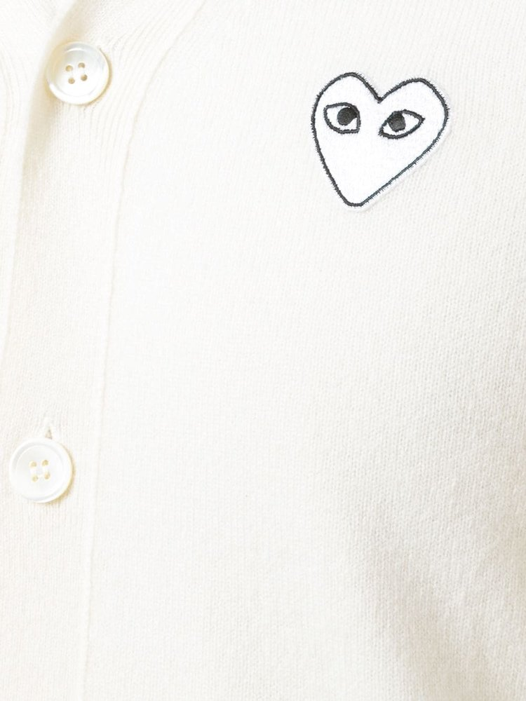 COMME des GARÇONS PLAY White Heart Cardigan