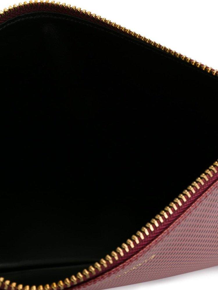 COMME des GARÇONS WALLET Pebbled Zip Pouch