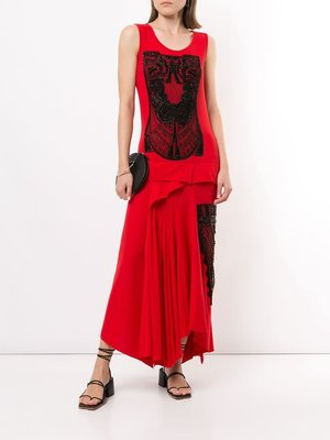 Yohji Yamamoto Technorama Pintuck Dress