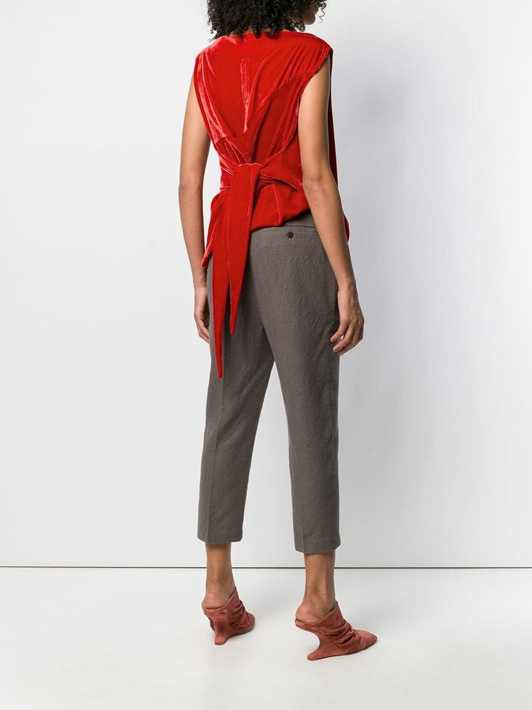 Rick Owens Slash Neck Draped Top