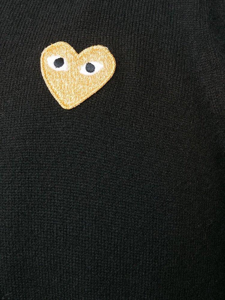 COMME des GARÇONS PLAY Gold Heart Crew-neck Cardigan