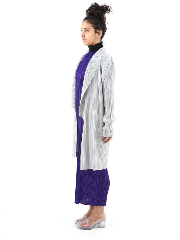 PLEATS PLEASE ISSEY MIYAKE Grey Light Mannish Coat