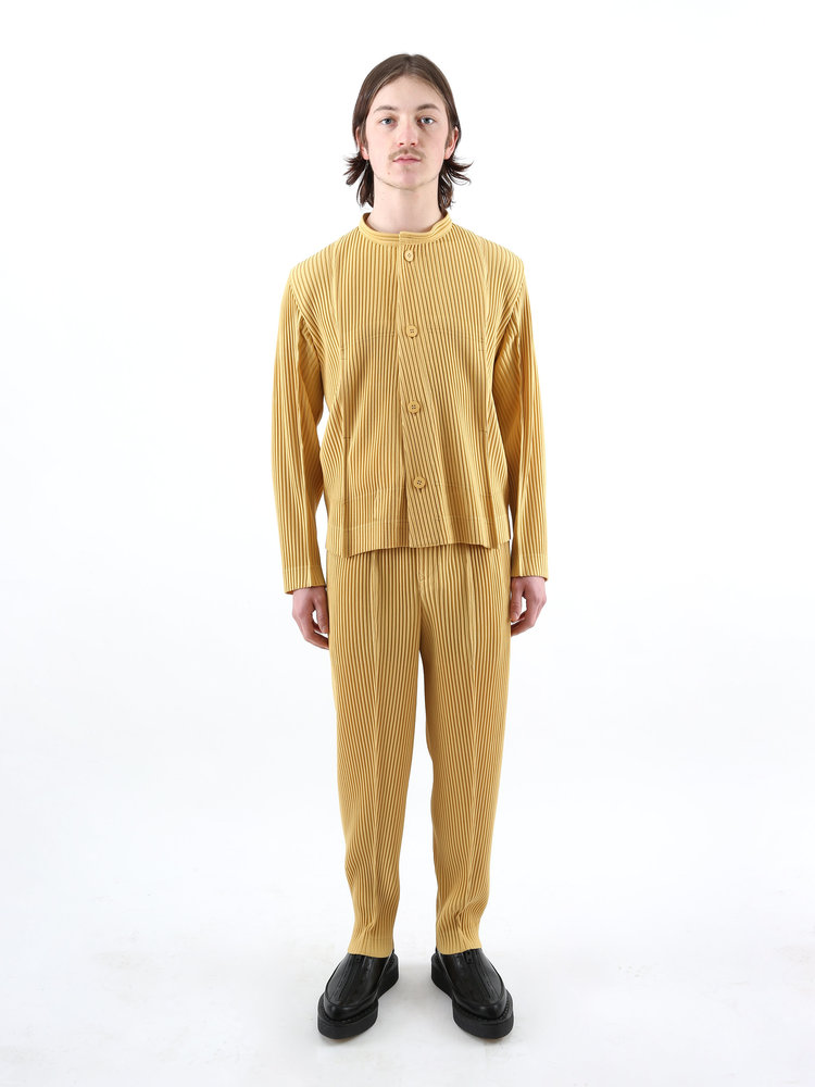 HOMME PLISSÉ ISSEY MIYAKE Issey Homme Plissé M Yellow Tailored Pleats Trousers