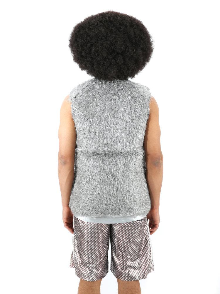 COMME des GARÇONS HOMME PLUS  Silver Shag Knit Sweater