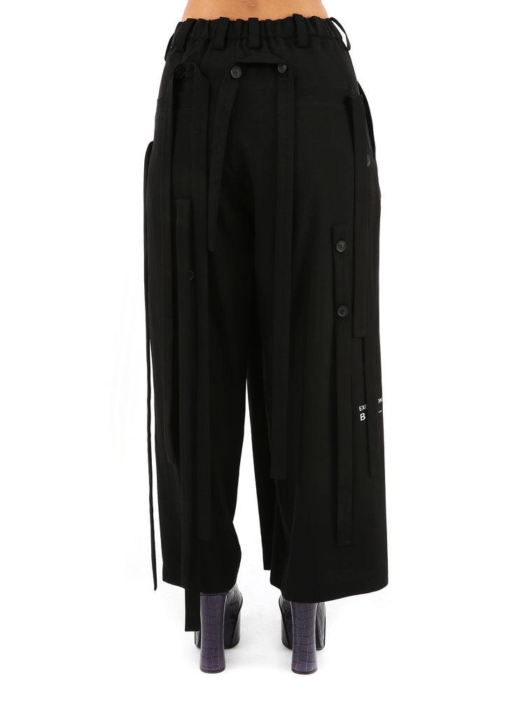 Yohji Yamamoto Yohji W Crepe Belt Pant
