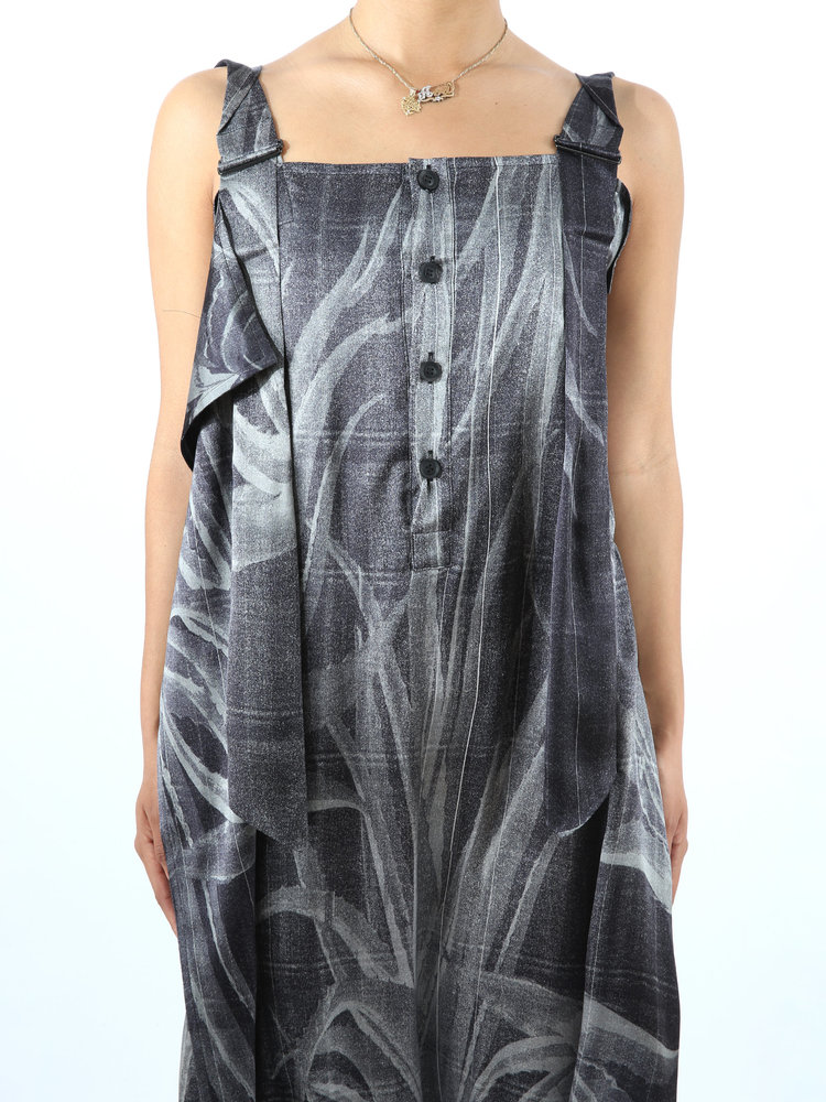 Yohji Yamamoto Yohji W Deco Salopette Dress