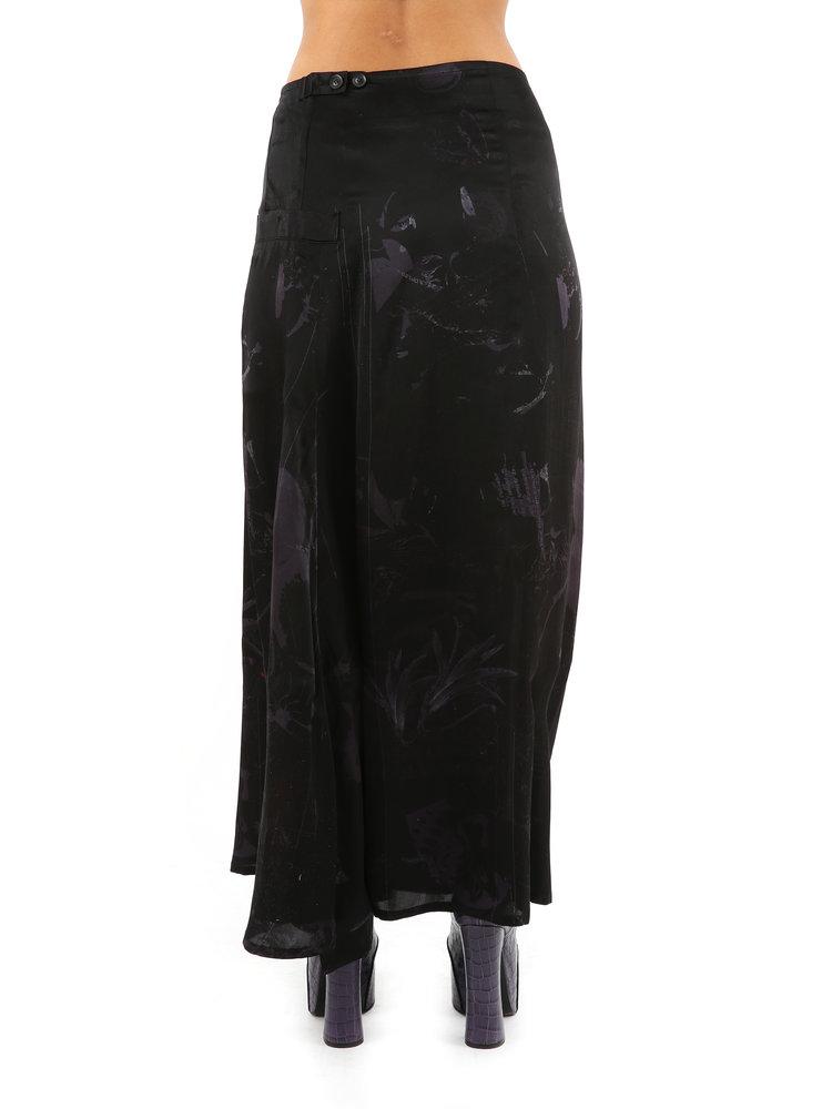 Yohji Yamamoto Pocket Flower Skirt