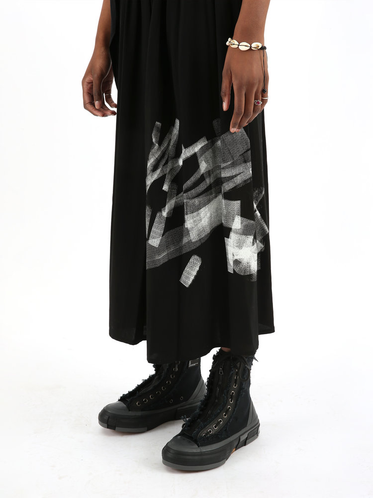 Yohji Yamamoto Yohji W Fringe Gather Skirt