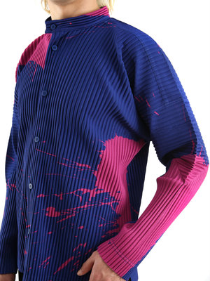 HOMME PLISSÉ ISSEY MIYAKE Turquoise Splash Shirt