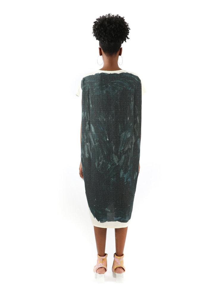 ANNTIAN Green Flower Dress