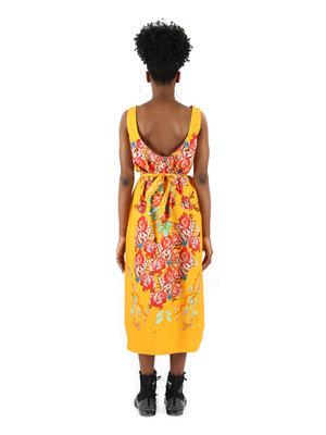ANNTIAN Yellow Sash Dress