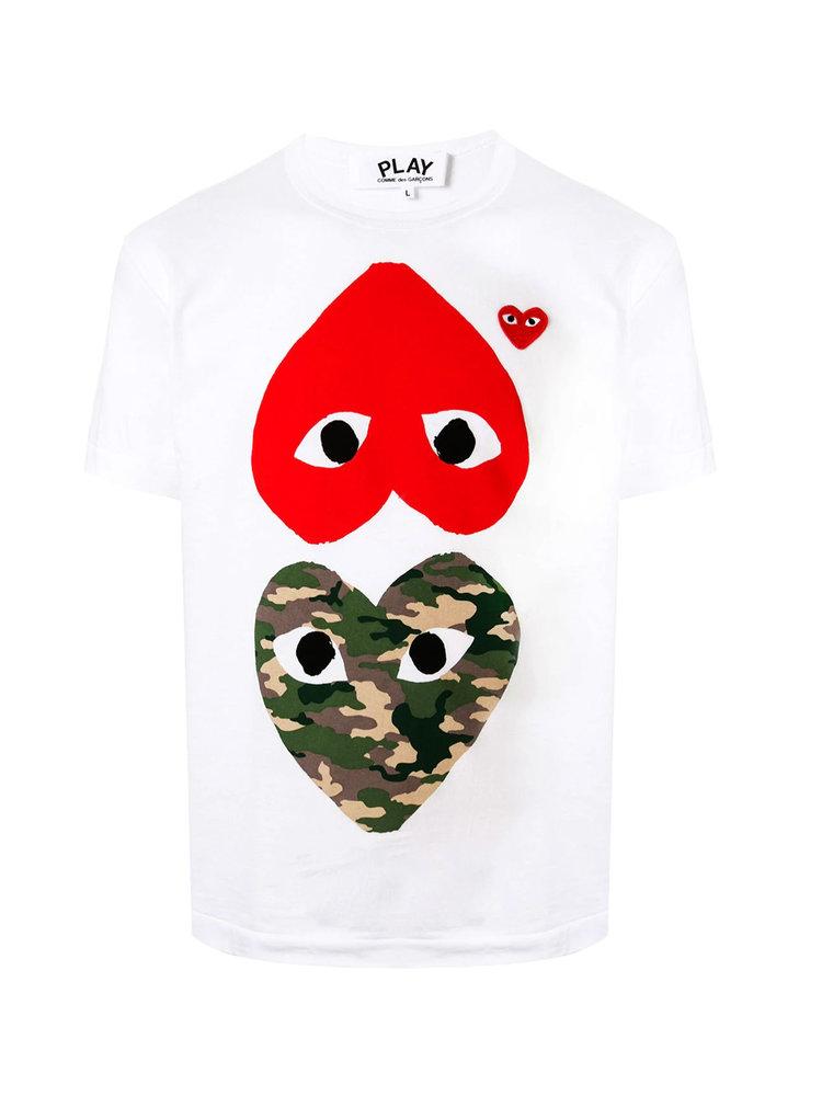 COMME des GARÇONS PLAY CDG PLAY W Mirror Hearts Tshirt