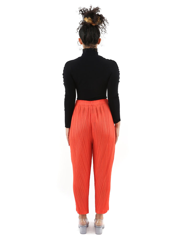 PLEATS PLEASE ISSEY MIYAKE Red Relaxed Fit Trousers