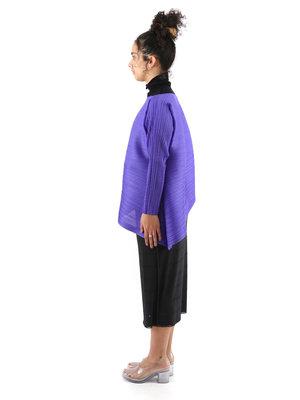 PLEATS PLEASE ISSEY MIYAKE Purple Vein Shirt