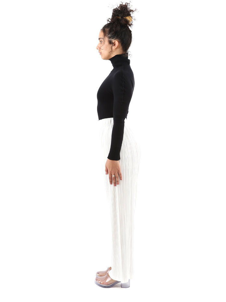 PLEATS PLEASE ISSEY MIYAKE White Opaque Pants