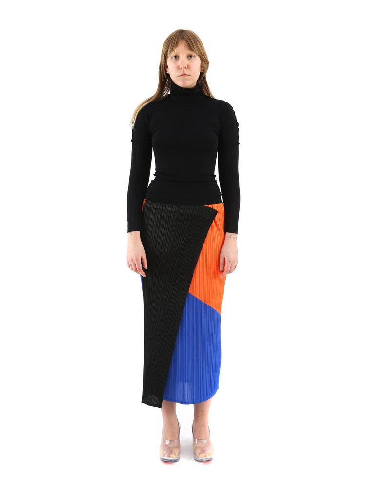 PLEATS PLEASE ISSEY MIYAKE Collage Skirt