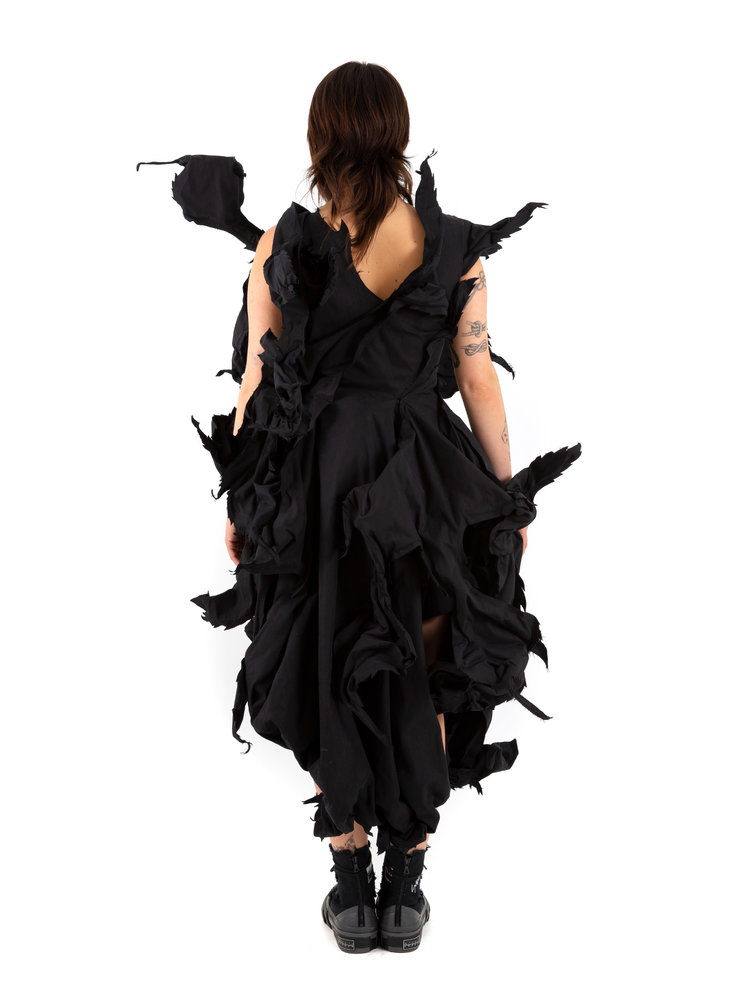 Yohji Yamamoto Cut Out Leaf Dress