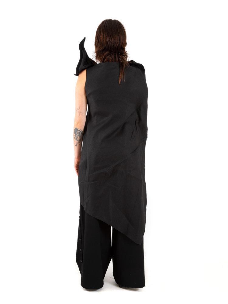 Yohji Yamamoto Twill Leaf Dress