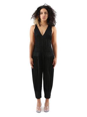 PLEATS PLEASE ISSEY MIYAKE Black Fluffy Basics Jumpsuit