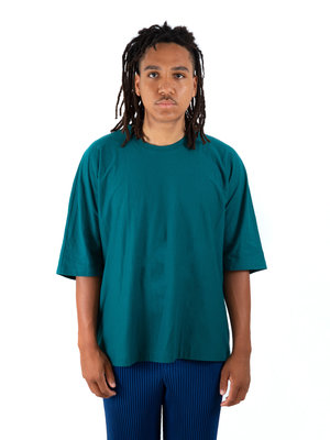 HOMME PLISSÉ ISSEY MIYAKE Teal Release  T-Shirt