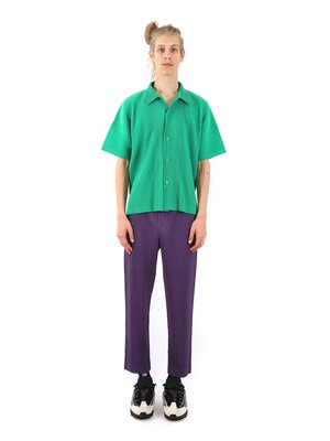 HOMME PLISSÉ ISSEY MIYAKE Plum Violet August Trousers