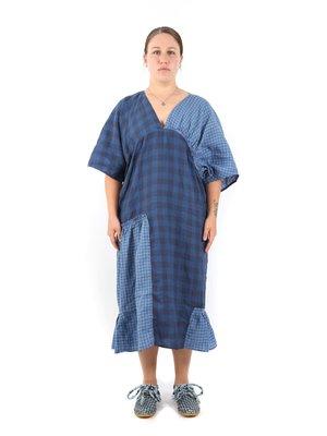 Henrik Vibskov Blue Checkered Jam Dress