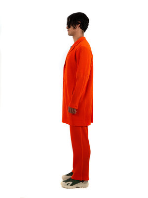 HOMME PLISSÉ ISSEY MIYAKE Italian Orange Tailored Jacket