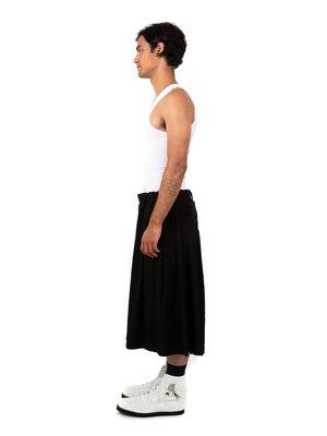 Yohji Yamamoto Crepe de Chine Skirt Short