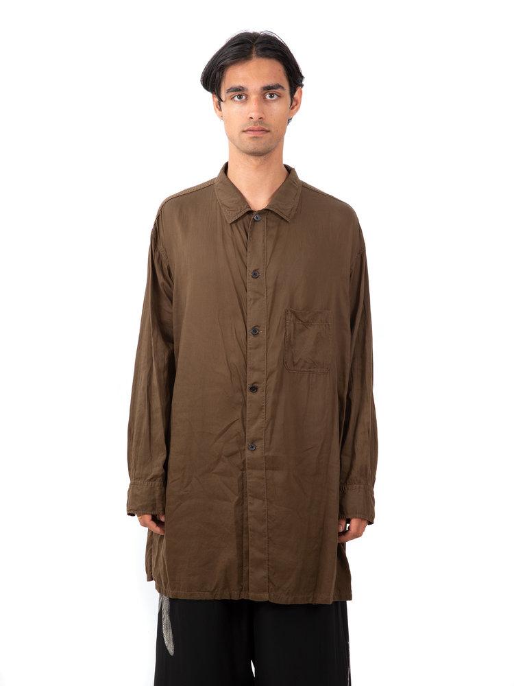 Yohji Yamamoto Garment Dye Open Collar Shirt