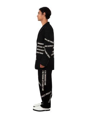 Yohji Yamamoto Chest Cloth Text Jacket