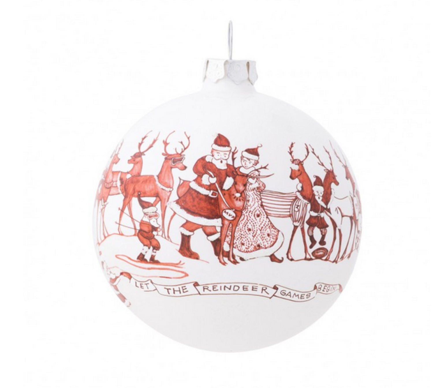 Country Estate Ruby Reindeer Games Ball Glass Ornament Rags And Riches Lifestyle Boutique