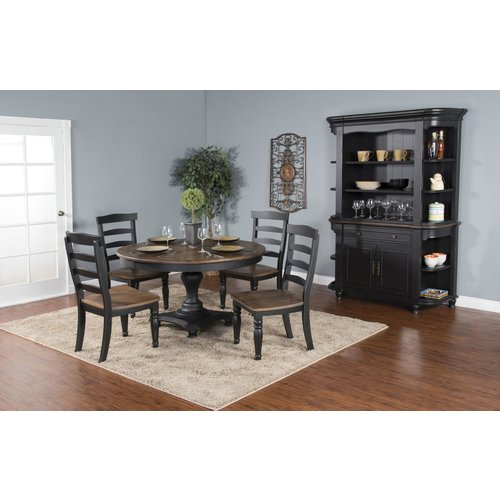 Sunny Designs Bourbon County Adjustable Pedestal Table Base
