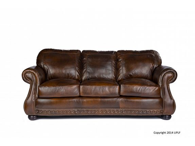 USA LEATHER Cowboy Chesterfield Leather Sofa