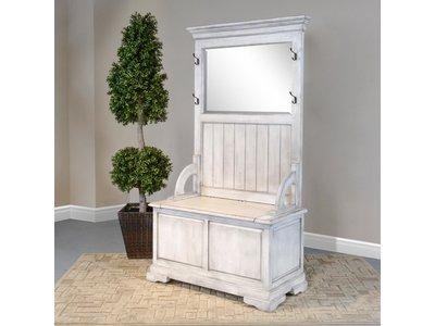 Sunny Designs Hall Tree W/Bench Storage-Top