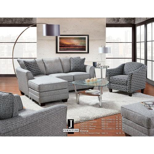 J Furniture London Sofa Chaise