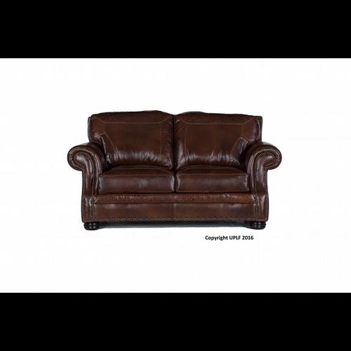 USA LEATHER SG Oak W/Paisley Leather Loveseat
