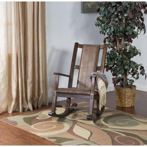 Sunny Designs Slatback Rocker W/Wood Seat