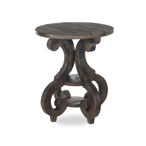Magnussen Home Bellamy Wood Round End Table