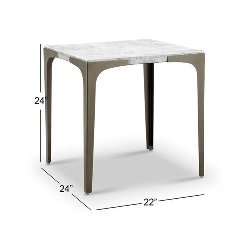 Magnussen Home Mercer Marble End Table Top