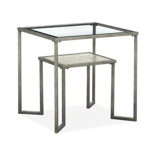 Magnussen Home Bendishaw Metal Rect End Table
