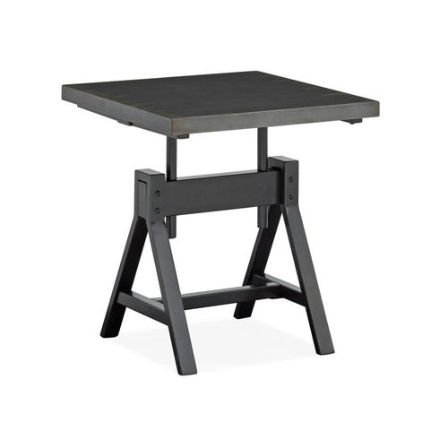 Magnussen Home Hartley Metal Square End Table